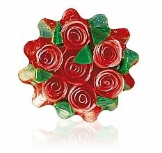 Parfums et Produits cosmétiques Savon à la glycérine Corbeille de roses, rouge - Bulgarian Rose Glycerin Soap Rose Fantasy