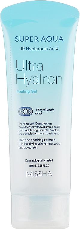 Gel gommant à l'acide hyaluronique pour visage - Missha Super Aqua Ultra Hyalron Peeling Gel — Photo N1