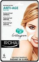 Parfums et Produits cosmétiques Patchs hydrogel anti-âge au collagène contour des yeux et des lèvres - Iroha Nature Anti Age Hydrogel Patches Collagen