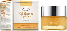 Parfums et Produits cosmétiques Masque de nuit à la vitamine E et huile d'argousier pour lèvres - Petitfee&Koelf Oil Blossom Lip Mask