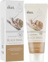 Gel peeling léger à la bave d'escargot pour visage - Ekel Natural Clean Peeling Gel Black Snail — Photo N1