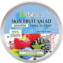 Parfums et Produits cosmétiques Gommage sucré aux myrtilles pour visage et corps - Nature of Agiva Roses Body Fruit Salad Nourishing Sugar Scrub