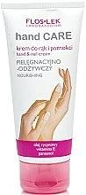 Parfums et Produits cosmétiques Crème à l'huile de ricin et vitamine E pour mains et ongles - Floslek Hand Care Hand And Nail Cream Nourishing