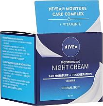 Parfums et Produits cosmétiques Crème de nuit à la vitamine E et beurre de karité - Nivea Moisturizing Night Cream Vitamin E For Normal Skin