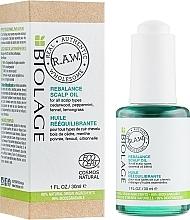 Parfums et Produits cosmétiques Mélange d'huiles essentielles rééquilibrante pour cuir chevelu - Biolage R.A.W. Scalp Care Rebalance Scalp Oil
