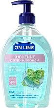 Parfums et Produits cosmétiques Savon de cuisine à l'arôme de menthe - On Line Kitchen Hand Wash Fresh Soap