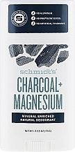 Parfums et Produits cosmétiques Déodorant stick naturel, Charbon actif et Magnésium - Schmidt's Deodorant Charcoal + Magnesium Stick