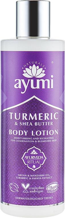 Lotion végane au beurre de karité et huile d'argan pour corps - Ayumi Turmeric & Shea Butter Body Lotion — Photo N1