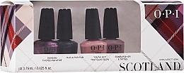 Parfums et Produits cosmétiques OPI Scotland Nail Lacquer Set - Set (vernis à ongles/4x3.75ml)
