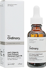 Parfums et Produits cosmétiques Huile d'argan marocaine bio pressée à froid - The Ordinary 100% Organic Cold-Pressed Moroccan Argan Oil
