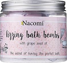 Parfums et Produits cosmétiques Set bombes de bain effervescentes - Nacomi Fizzing Bath Bomb With Grape Seed Oil (4 pcs)