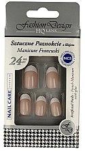 Parfums et Produits cosmétiques Capsules french manucure et colle, 77951, 24 pcs - Top Choice Fashion Design