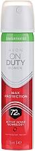 Parfums et Produits cosmétiques Déodorant anti-transpirant - Avon On Duty Concentrated Max Protection Anti-Perspirant Aerosol 72H