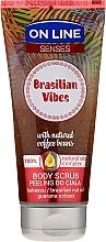 Parfums et Produits cosmétiques Gommage corporel à l'huile de babassu, noix du Brésil et extrait de guarana - On Line Senses Body Scrub Brasilian Vibes