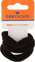 Parfums et Produits cosmétiques Élastiques pour cheveux 4 pcs, noir - Top Choice
