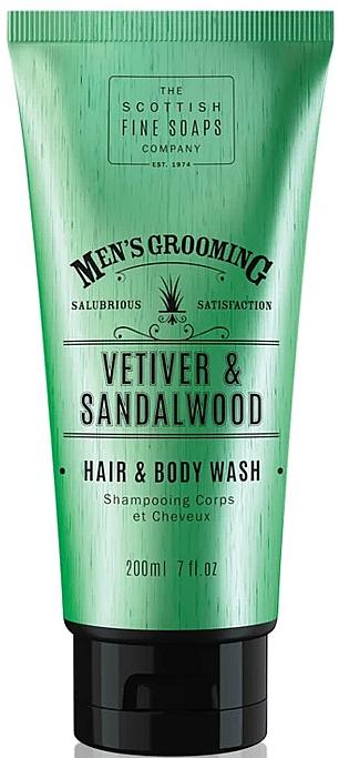 Shampooing et gel douche, Vétiver et bois de santal - Scottish Fine Soaps Vetiver & Sandalwood Hair Body Wash