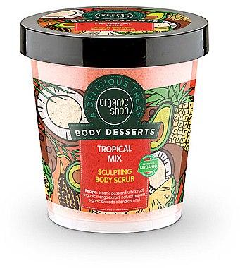 Gommage anti-cellulite à la mangue, fruit de la passion et huile d'avocat pour corps - Organic Shop Body Desserts Tropical mix — Photo N1