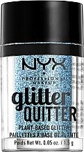 Parfums et Produits cosmétiques Paillettes pour visage et corps - NYX Professional Makeup Glitter Quitter Plant-Based Glitter