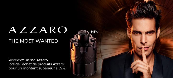 Lors de l'achat de produits Azzaro pour un montant supérieur à 59  €, vous recevez un sac Azzaro en cadeau.