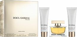 Parfums et Produits cosmétiques Dolce & Gabbana The One - Coffret (eau de parfum/75ml + lotion corporelle/50ml + gel douche/50ml)