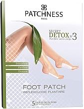 Parfums et Produits cosmétiques Patchs détoxifiants et purifiants au vinaigre de bambou pour pieds, 5 paires - Patchness Foot Patch