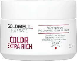 Parfums et Produits cosmétiques Masque régénérant 60 secondes pour cheveux - Goldwell DualSenses Color Extra Rich 60sec Treatment