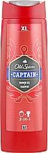 Parfums et Produits cosmétiques Gel douche et shampooing 2 en 1 pour hommes - Old Spice Captain Shower Gel