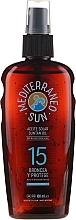 Parfums et Produits cosmétiques Huile solaire waterproof en spray - Mediterraneo Sun Coconut Suntan Oil Dark Tanning SPF15