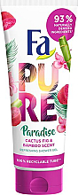 Parfums et Produits cosmétiques Gel douche Cactus et bambou - Fa Pure Paradise Shower Gel Cactus & Bamboo