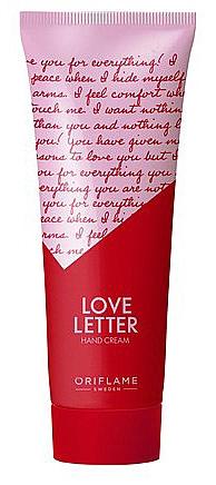 Crème à l'huile d'amande douce pour mains - Oriflame Love Letter Hand Cream