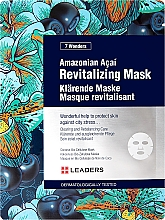 Parfums et Produits cosmétiques Masque tissu à l'extrait de baies d'açaï pour visage - Leaders 7 Wonders Amazonian Acai Revitalizing Mask
