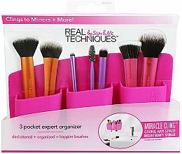 Parfums et Produits cosmétiques Organisateur pour pinceaux, rose - Real Techniques 3 Pocket Expert Organizer Pink