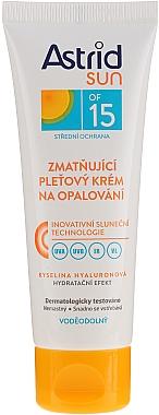 Crème solaire waterproof pour visage - Astrid Sun Moisturizing Suncare Face Cream SPF 15 — Photo N1