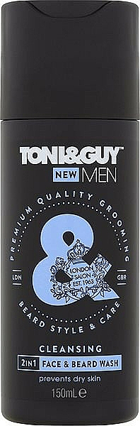 Shampooing pour barbe et moustache - Toni & Guy Men Cleansing 2in1 Face & Beard Wash — Photo N1