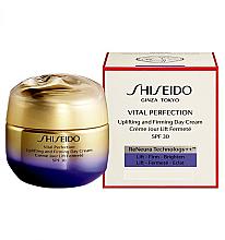 Parfums et Produits cosmétiques Crème de jour liftante à l'eau de rose bulgare - Shiseido Vital Perfection Uplifting and Firming Day Cream SPF 30