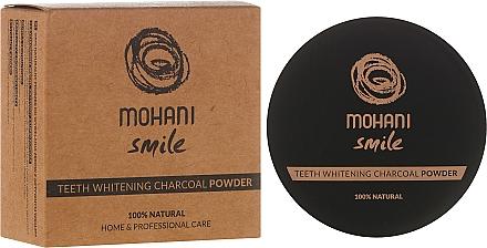 Dentifrice en poudre au charbon actif - Mohani Smile Teeth Whitening Charcoal Powder