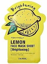 Parfums et Produits cosmétiques Masque tissu à l'extrait de citron pour visage - Tony Moly I'm Real Lemon Mask Sheet