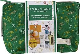 Parfums et Produits cosmétiques Coffret cadeau - L'Occitane Christmas Set (balm/15ml + f/mask/6ml + b/milk/20ml + h/cr/10ml + shm/35ml + sh/gel/30ml + bag)
