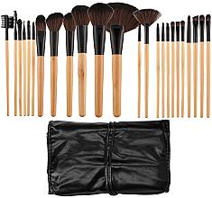 Parfums et Produits cosmétiques Kit pinceaux maquillage avec étui, 24 pcs - Tools For Beauty
