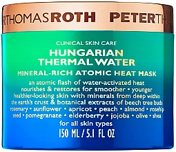 Parfums et Produits cosmétiques Masque thermique à l'eau thermale hongroise et minéraux pour visage - Peter Thomas Roth Hungarian Thermal Water Mineral-Rich Atomic Heat Mask