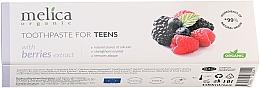 Parfums et Produits cosmétiques Dentifrice à l'extrait de baies pour ados - Melica Organic Toothpaste For Teens With Berries Extract