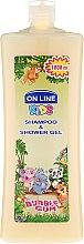 Parfums et Produits cosmétiques Shampoing et gel lavant à l'arôme de chewing-gum - On Line Kids Shampoo & Body Wash Bubble Gum