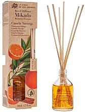 Parfums et Produits cosmétiques Bâtonnets parfumés Cannelle et Orange - La Casa de los Aromas Mikado Botanical Reed Diffuser Cinnamon Orange