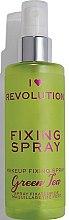 Parfums et Produits cosmétiques Spray fixateur de maquillage - Makeup Revolution Fixing Spray Green Tea