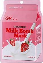 Parfums et Produits cosmétiques Masque tissu à l'extrait de fraise pour visage - G9Skin Milk Bomb Mask Strawberry