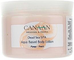 Parfums et Produits cosmétiques Lotion corporelle à la mangue et pêche à base d'eau - Canaan Minerals & Herbs Aqua Based Body Lotion Mango-Peach