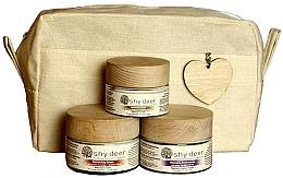 Parfums et Produits cosmétiques Set pour peaux sèches et normales - Shy Deer Natural Ritual Set (cr/mask/50ml+cr/50ml+eye/cr/30ml+bag)