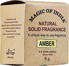 Parfums et Produits cosmétiques Parfum solide naturel, Ambre - Shamasa