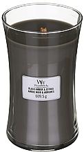 Parfums et Produits cosmétiques Bougie parfumée avec mèche en bois, Ambre noir et Agrumes - WoodWick Hourglass Candle Black Amber And Citrus