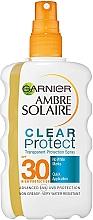 Parfums et Produits cosmétiques Spray solaire bi-phasé avec filtre UV SPF30 - Garnier Ambre Solaire Clear Protect Spray SPF30